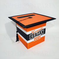 Orange & Black Class of 2021 Graduation Card Box 2