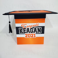 Orange & Black Class of 2021 Graduation Card Box 3