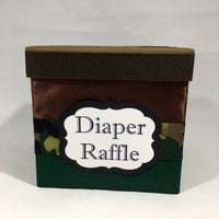Camouflage Diaper Raffle Ticket Box
