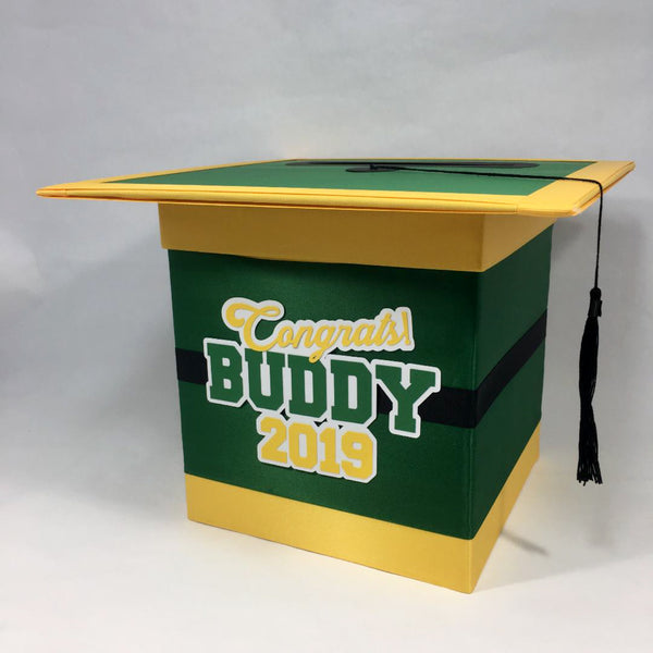 Green & Yellow Graduation Card Box