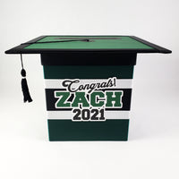 Hunter Green & Black Class of 2021 Card Box
