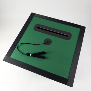 Graduation Cap Card Box - Hunter Green, Black