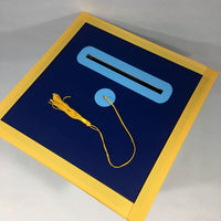 Navy, Light Blue, Yellow Gold Class of 2020 Graduation Party Card Box