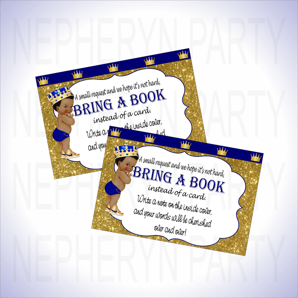Prince Bring a Book Cards - Royal Blue, Gold