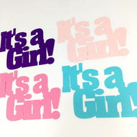 It's a Girl Word Cutouts