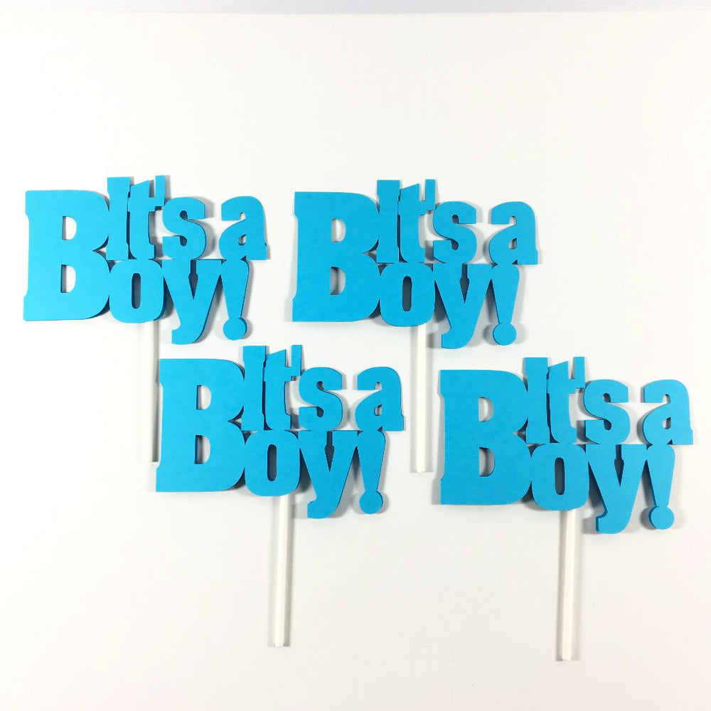 Blue It's a Boy Cake Toppers