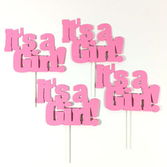 It's a Girl Diaper Cake Toppers