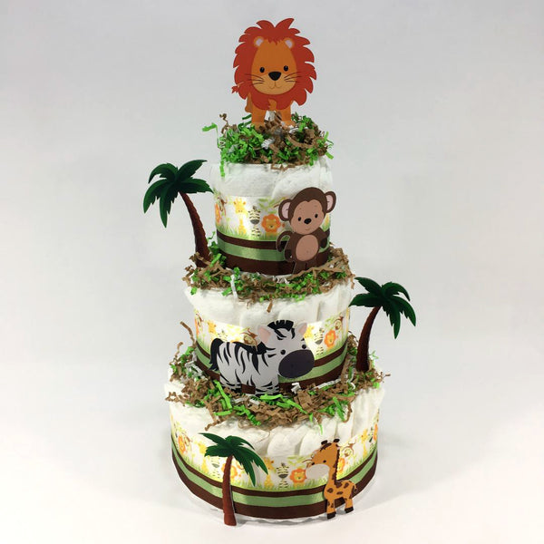 Safari Diaper Cake Centerpiece
