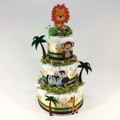 Baby Safari Diaper Cake Centerpiece