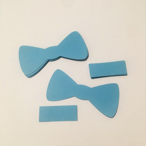 Paper Bow Tie Cutouts - Light Blue