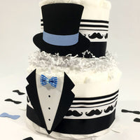 Little Gentleman 2-Tier Diaper Cake Centerpiece
