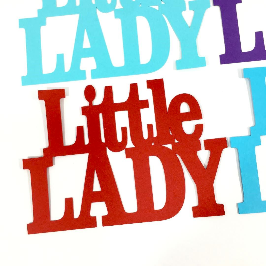 LIttle Lady Word Cutouts