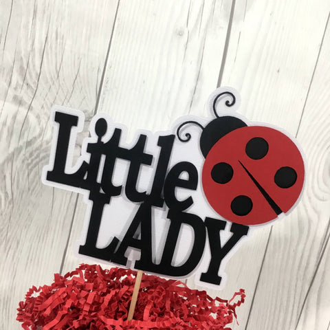 Little Lady Ladybug Cake Topper - Ready to Ship