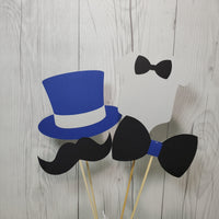 Little Man Party Sticks - Navy, Gray, Black