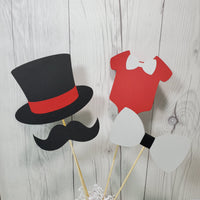 Red, Black, & Gray Little Man Party Sticks