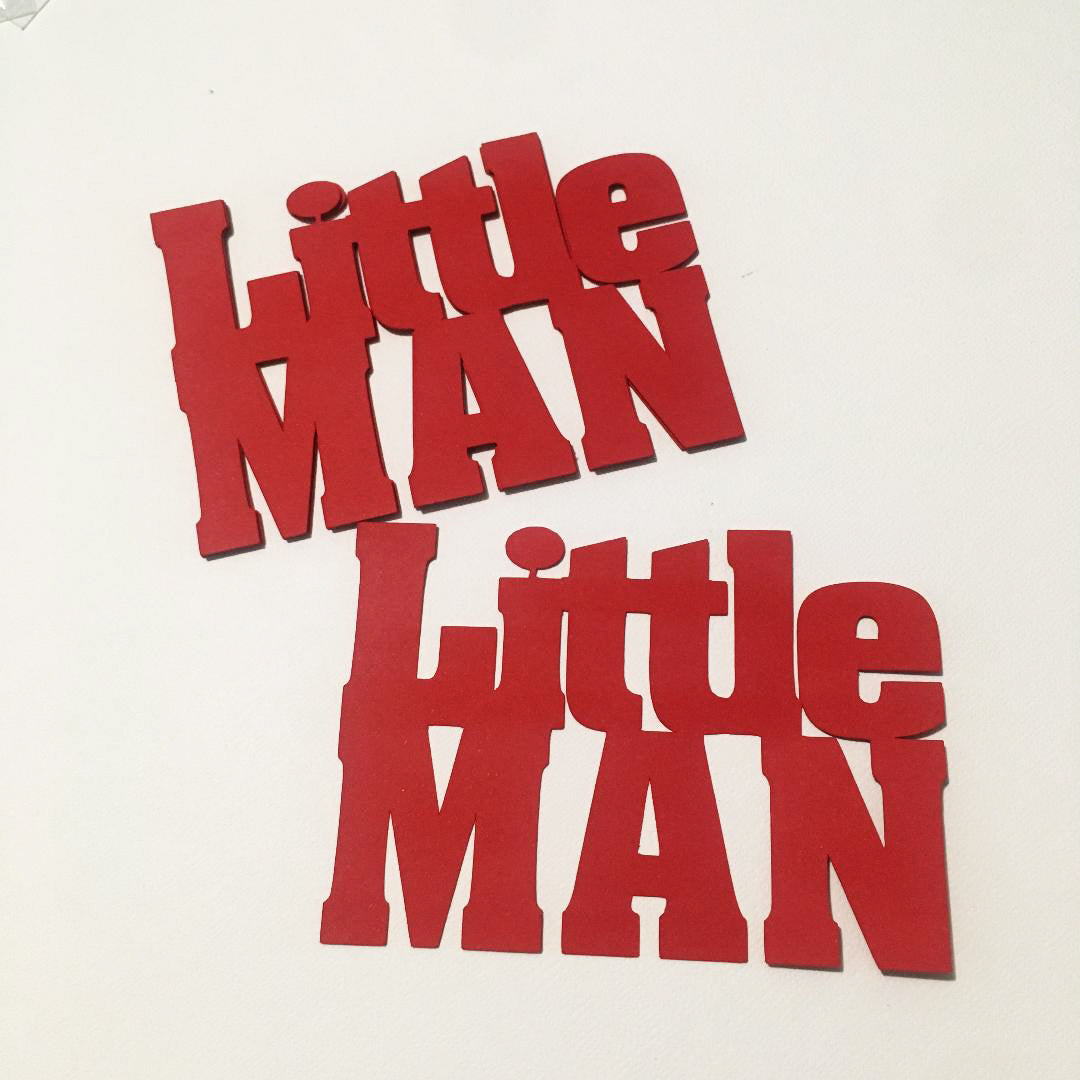 Little Man Word Cutouts - Red