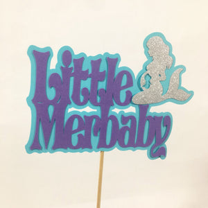 Little Merbaby Cake Topper - Lavender, Blue