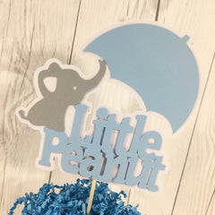 Little Peanut Cake Topper - Blue, Gray