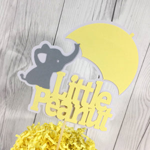 Yellow & Gray Cake Topper