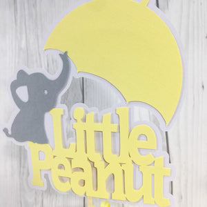 Little Peanut Cake Topper - Yellow, Gray