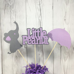 Little Peanut Centerpiece Sticks - Purple, Gray