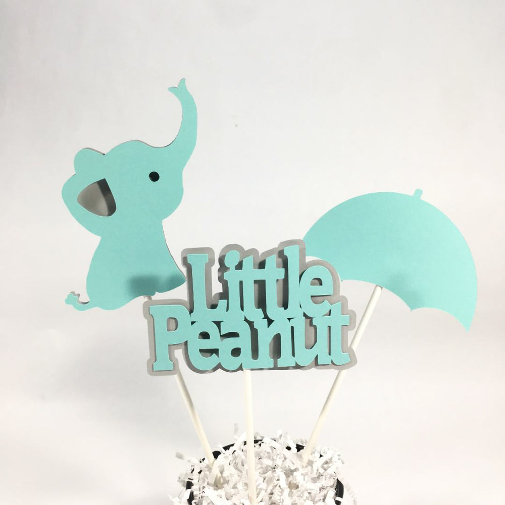 Aqua & Gray Little Peanut Centerpiece Sticks