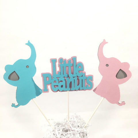 Little Peanuts Centerpiece Sticks - Pink, Blue, Gray