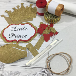 Little Prince Diaper Cake Kit - Red & Gold