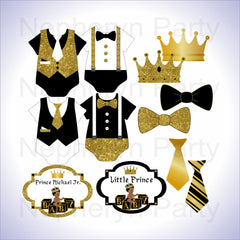 Little Prince Clipart - Black, Gold