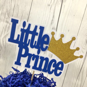 Royal Blue and Gold Little Prince Cake Topper