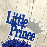 Royal Blue and Silver Little Prince Cake Topper