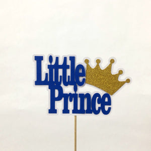 Little Prince Cake Topper - Royal Blue