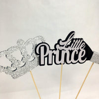 Little Prince Centerpiece Sticks - Black