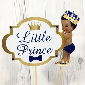 Little Prince Centerpiece Toppers - Blue, Gold