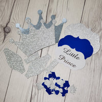 Little Prince Diaper Cake Kit - Royal Blue & Silver