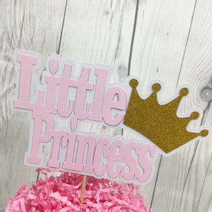 Pink and Gold Little Princess Cake Topper