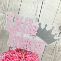Pink and Silver Little Princess Cake Topper