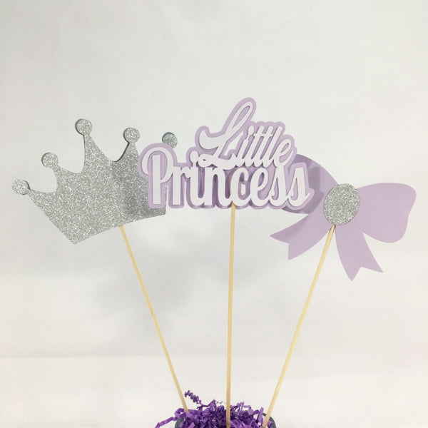 Lilac and Silver Little Princess Centerpiece Sticks