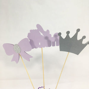 Little Princess Centerpiece Sticks - Lilac