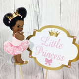 Little Princess Centerpiece Toppers - Pink, Gold