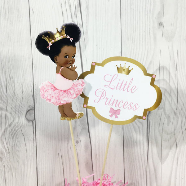 Pink and Gold Little Princess Centerpiece Sticks