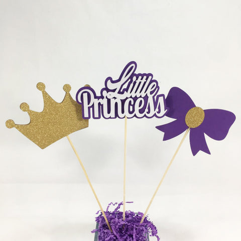 Little Princess Centerpiece Sticks - Purple