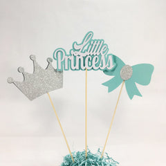 Little Princess Centerpiece Sticks - Teal, Silver