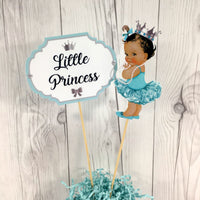Teal and Silver Little Princess Centerpiece Sticks