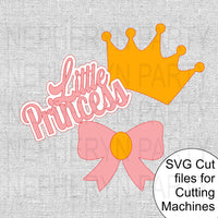 Little Princess Centerpiece Sticks SVG Cutting File