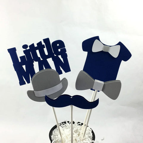 Little Man Centerpiece Sticks - Navy