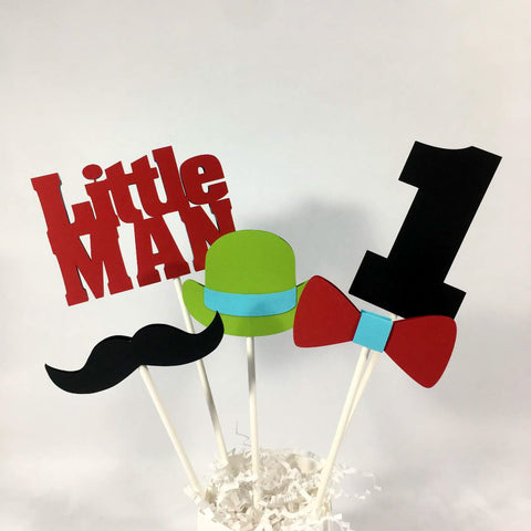Little Man Birthday Centerpiece Sticks