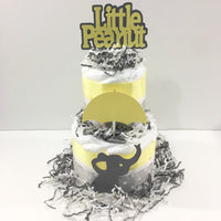 Yellow & Gray Little Peanut Neutral Diaper Cake