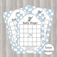 Blue & Gray Little Peanut Baby Shower Games