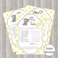 Little Peanut Baby Shower Games - Yellow